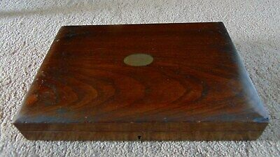 Antique wood canteen cutlery empty box