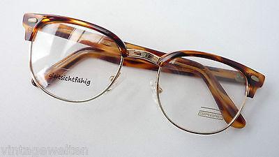 Pantobrille Brillenfassung Brille gold-havannabraun 50-22 oval rund Grösse L