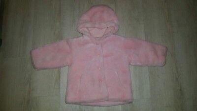 Jacke, Mantel mit Kapuze für Mädchen Gr.86,NEU (Pelz-mantel Für Mädchen)