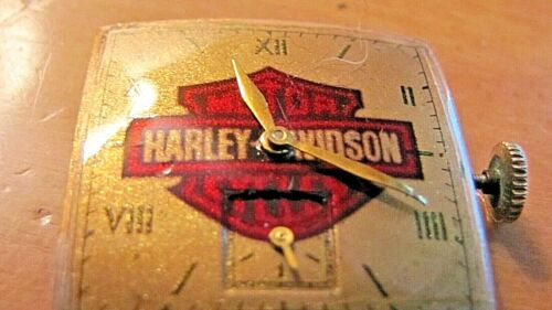 """Harley Davidson"" Logo -  Vintage Elgin Watch - Serviced - 1  yr Guaranty"