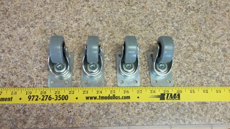 SET OF 4 — 2 inch Rubber Swivel Casters **NEW**