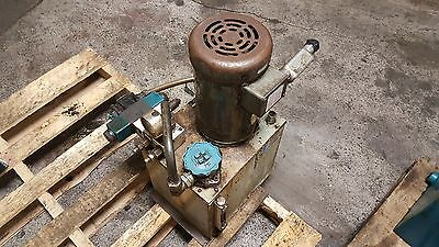Rexroth 2 HP Hydraulic Unit, 5 Gal. Cap., 1PF2G2-40B/05, HS43-A49-4389-A-0, Used