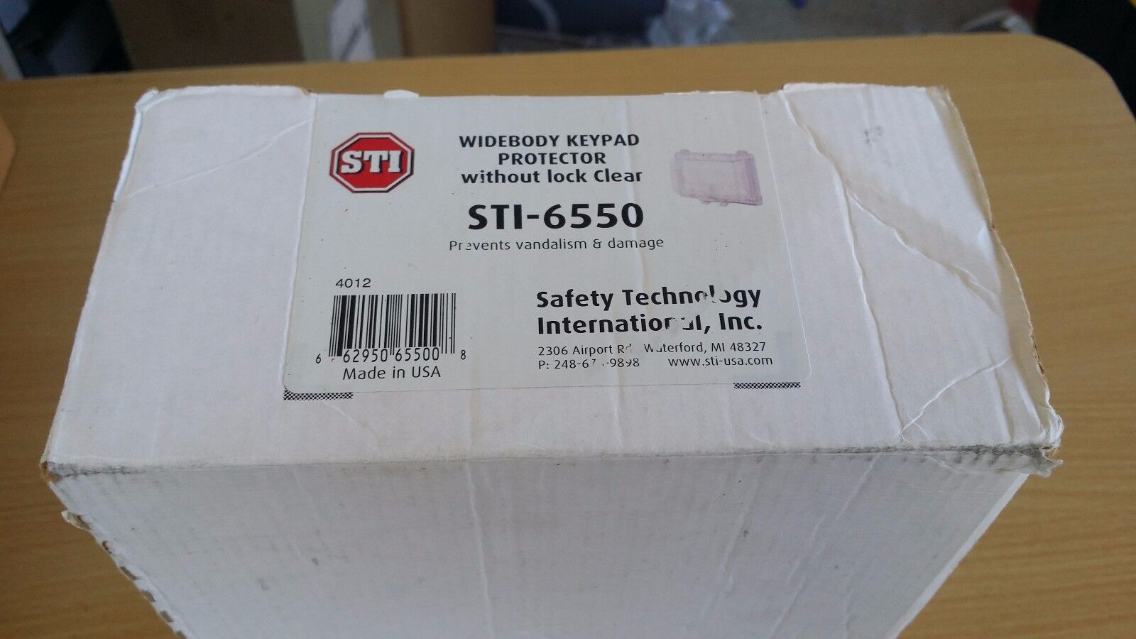 STI-6550 Widebody Keypad protector without lock Prevents vandalism & damage