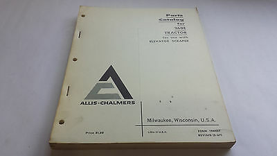 Allis-chalmers Parts Catalog For 260e Tractor For Use With Elevator Scraper
