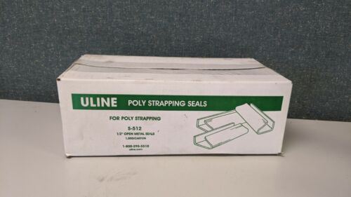 "ULINE S-512 1/2"" POLY STRAPPING SEALS"