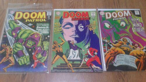 Doom Patrol LOT # 111 118 119 DC Comics 1967 Superman