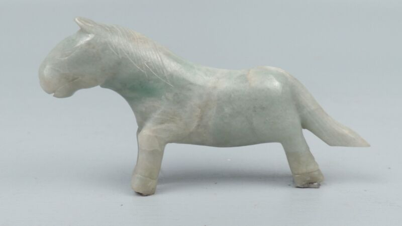 Old Chinese Hardstone Carving of a Horse - Possibly Jade or Jadeite ?? Stone VR