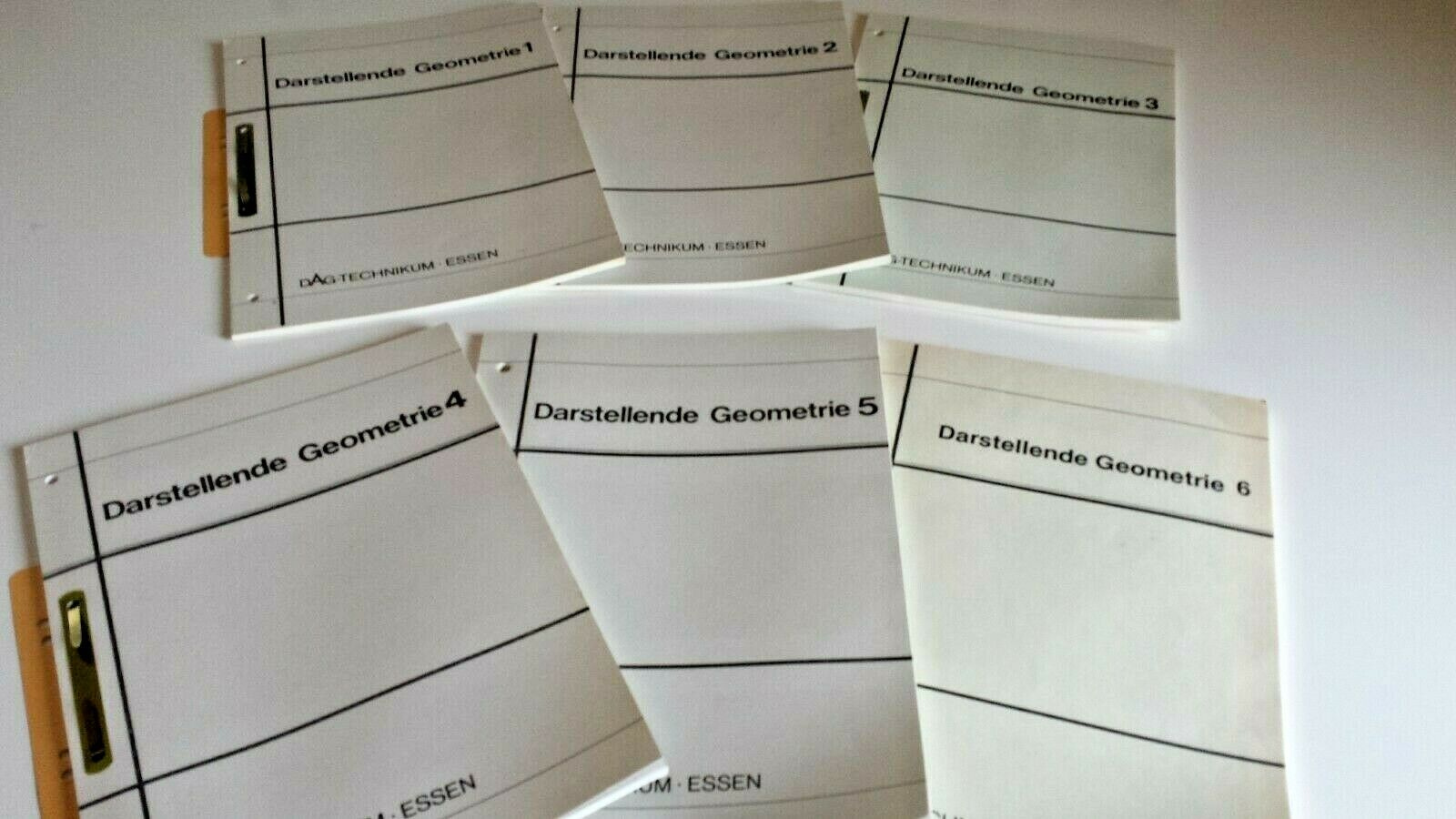 6 Lehrhefte, darstellende Geometrie, technisches Zeichnen, Fernunterricht