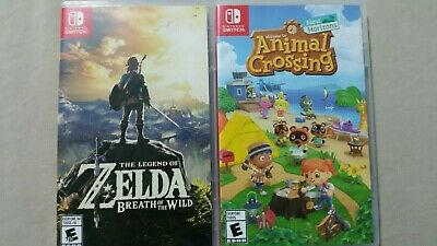 Breath Of The Wild, Animal Crossing New Horizons Preowned Switch Game Bundle