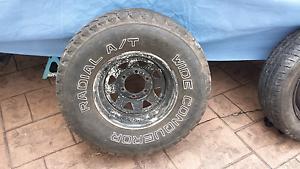15 x 7, 6 stud, 6 x 139.7, Wheel / Rim 31 x 10.5 R15 Tyre Wooloowin Brisbane North East Preview