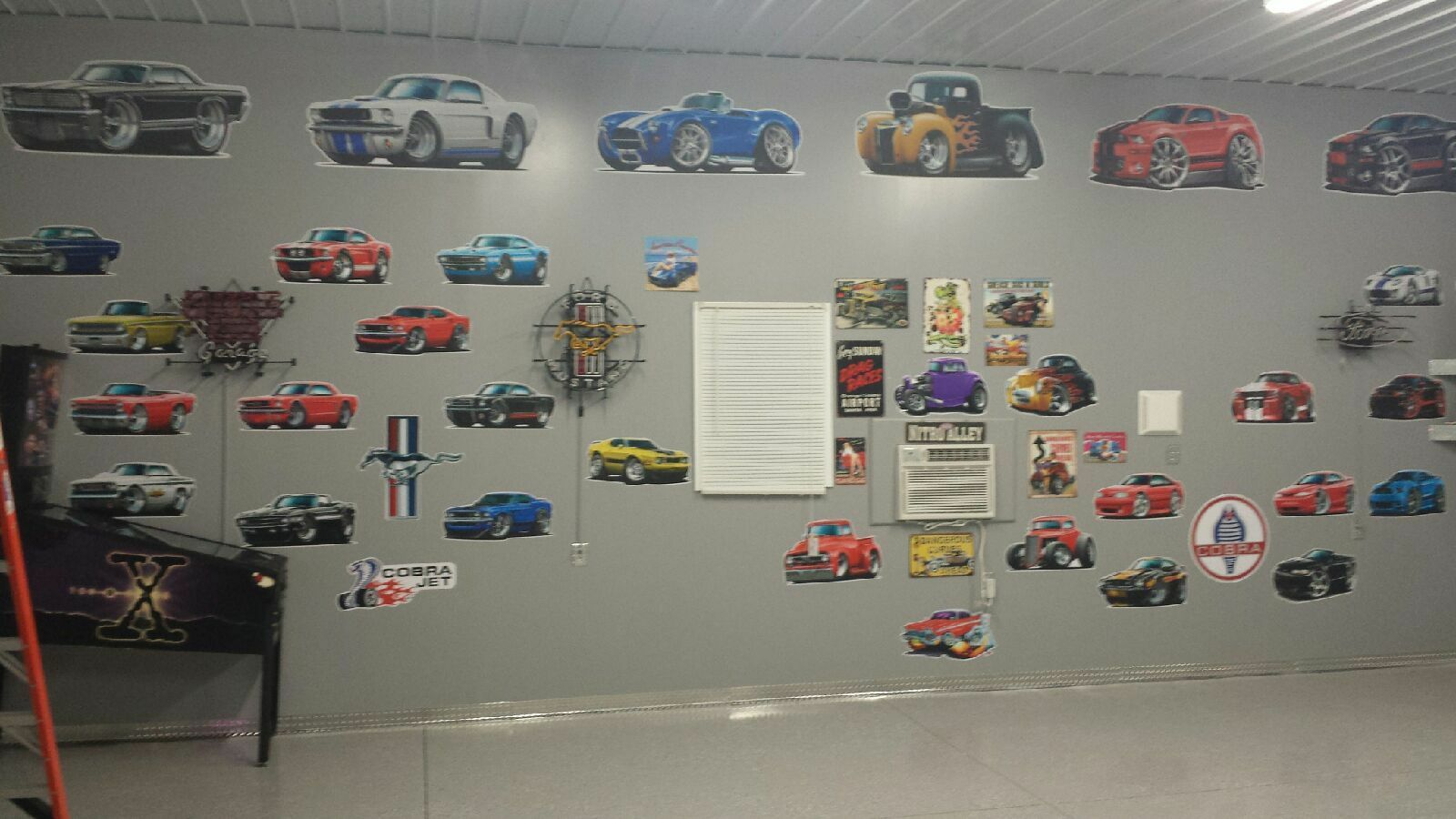 MD 1956 Chevy Blower 283 Cartoon Car Truck Bed Art Wall Stickers Graphics Decal  - $19.89