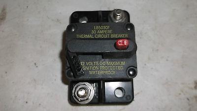 Blue Sea Systems 185030F  30 Amp Circuit Breaker OFF/Trip  42 VDC Max