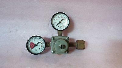 The Cornelius Co 857a 500 Psi 3.45 Mpa Dual Gauge Gas Regulator Valve