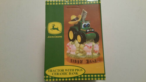 JOHN DEERE PIGGY BANK TRACTOR OFFICIAL LICENSED CERAMIC 1999