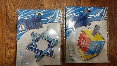2 Makit bakit Jewish Dreidel Star of David Stained glass Suncatchers Craft