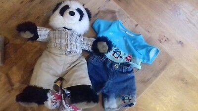 Builder A Bear Panda And Spare - Panda Bear Outfit