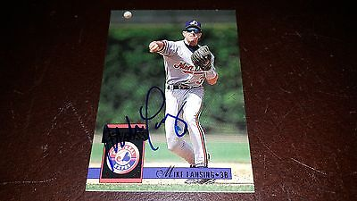 MIKE LANSING SIGNED 1994 DONRUSS CARD AUTOGRAPHED