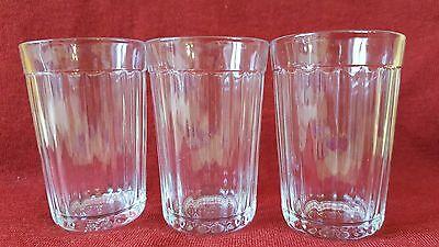 Vintage Ostalgie 3x Trink Glas Kultige Gläser russisch 3 граненых стаканa 250ml
