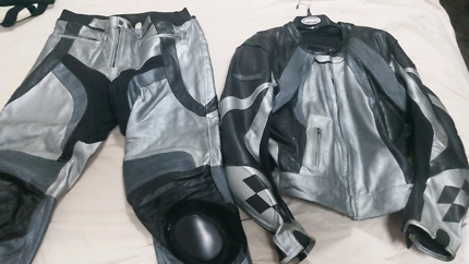 RJAYS Road bike leather jacket  and pants