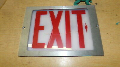 Glass Exit Sign 11 X 7 Free Shipping