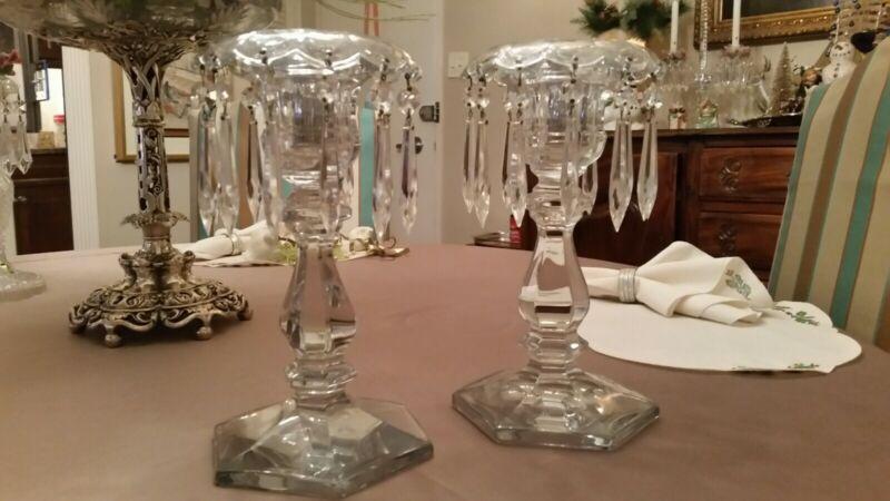 One pair Heisey 300 Old Williamsburg candelabra candlesticks