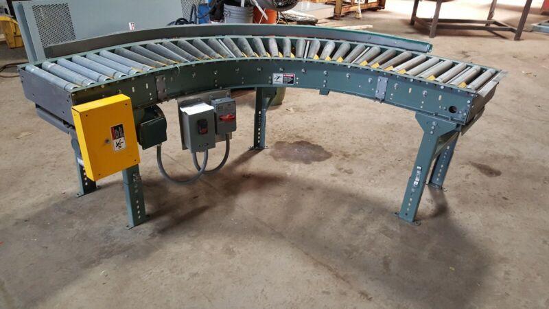 Hytrol(Jonesboro, St. louis,Mo) Belt Driven Semi-Circular Conveyor Section
