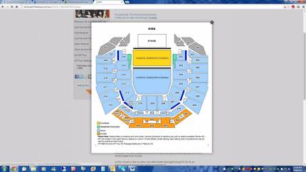 KISS VIP TOUR SEATING x2 @ $400 each - PERTH ARENA SAT 3 OCT 2015 West Leederville Cambridge Area Preview