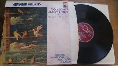 VAUGHAN EILLIAMS VIOLIN SONATA SIX STUDIES HUGH BEAN DAVID PARKHOUSE  - LP
