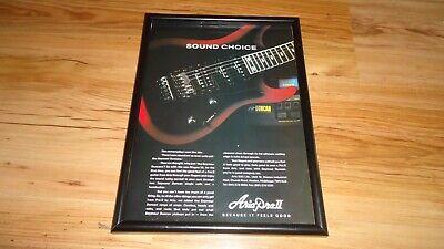 ARIA PRO II MAGNA 90 guitar-1992 framed advert segunda mano  Embacar hacia Spain