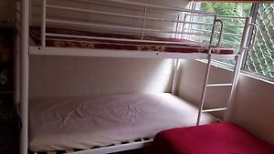 Bunk-Bed, single white steel with only 1 mattress included St Lucia Brisbane South West Preview