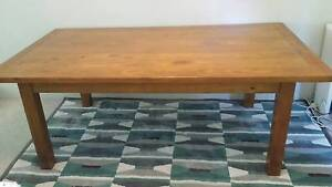 Solid Wood Dining Table with 4 Chairs Marsfield Ryde Area Preview
