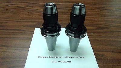 2 Cat40 Ball Bearing Keyless Drill Chucks 38 Integral Design Dck-cat40-38