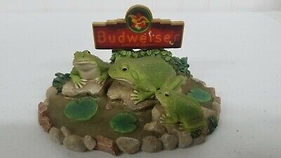BUDWEISER KING OF BEER BUD - WEIS - ER FROGS RESIN FIGURE EXCELLENT # 3933 (Name Of Beer)