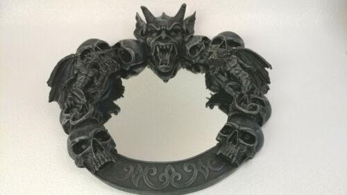 Gothic Gargoyle Winged Demon Skull Halloween Mirror Heavy Resin