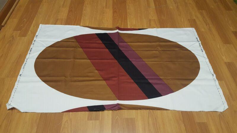 Awesome RARE Vintage Mid Century retro 70s Heals Nova Ova brn oval stripe fabric