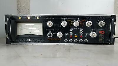 Spectral Dynamics Model Sd104a-5 Sweep Oscilloscope