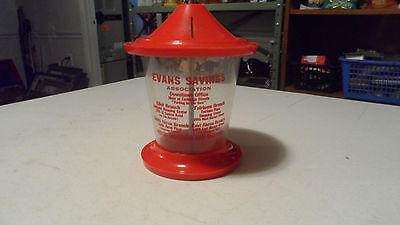 RARE VINTAGE BIRD FEEDER COIN BANK EVANS SAVINGS AKRON OH AREA ONLY ONE ON EBAY