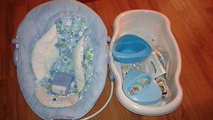 baby bath and baby bouncer