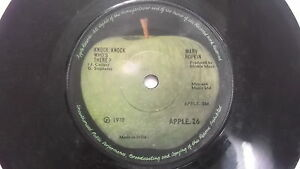 MARY-HOPKINS-APPLE-knock-knock-rare-SINGLE-7-45-RPM-INDIA-INDIAN-85-VG