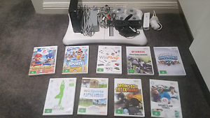 Nintendo wii console with fitboard and 9 games Kidman Park Charles Sturt Area Preview