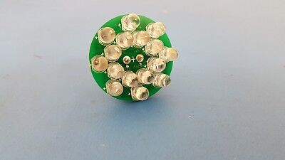 Round Led Cluster Yellow Color Round Led Dome 16 Led 12v 2 Pin 10 Pcs