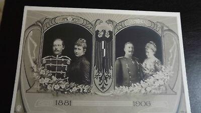 1906 Kaiser Wilhelm Germany Silver Wedding Unused vintage Postcard