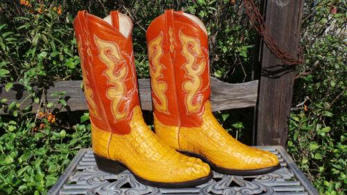 Vintage, AMAZONAS, Cowboy, Boots, •, Caiman, •, Tan, •, Mens, 10, EE, •, (P20)