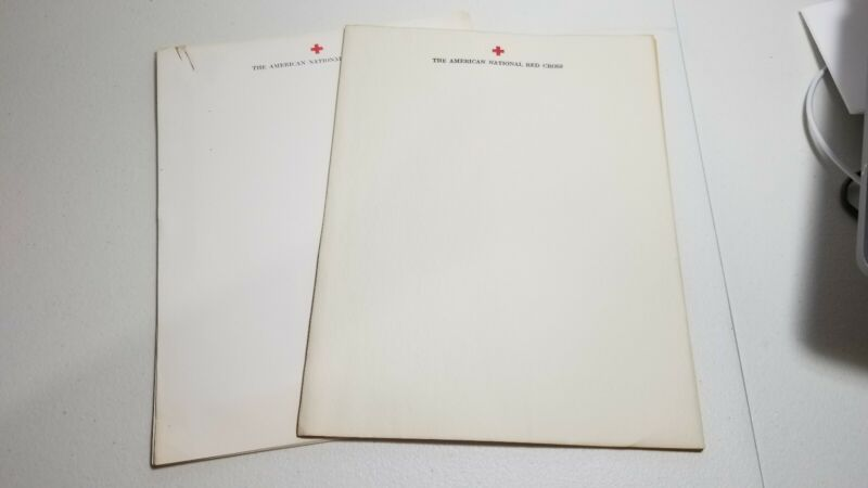 VTG The American National Red Cross Light Weight Opaque + Typewriter Stationery