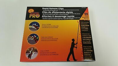 New in Box No Ladder Pro Rapid Release 50 Holiday Lights Gutter Clips [15 cases] ()