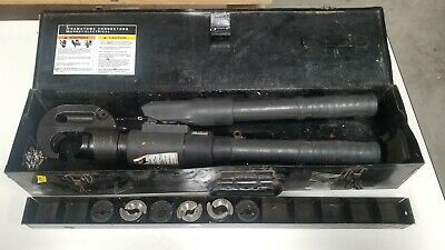 Burndy Y750 Revolver Hypress Crimper With 6 Die Sets Unit 1