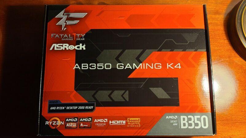 ASRock AB350 Gaming K4 FATAL1TY gaming motherboard AM4 socket Ryzen 3000 Bios