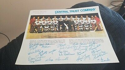 Vintage Rochester Amerks Hockey Team Photo 1971 1972 Season Don Cherry