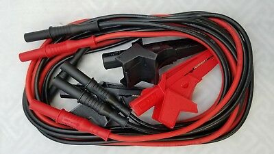 Amprobe Mtl-5kv Test Lead Set 2 Black Leads With Alligators 1 Red With Alligat.