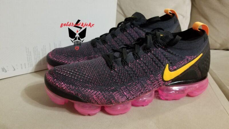 9527abf4dfbb Nike Air VaporMax Flyknit 2 gridiron laser orange pink 942842 008 ...